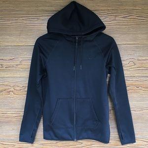 Black Nike Therma Fit Zip Up Hoodie Jacket X small